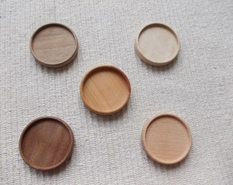5 pc unfinished mix wooden brooch/pendant base with 50 mm inner diameter,wooden bezel,round brooch setting,wooden jewel supply
