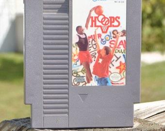 Vintage Nintendo Game, Hoops, JALECO 1988, Basketball, nes Game, nes Console, Cartridge, Nintendo Cartridge, NES Game, Video Game, NES