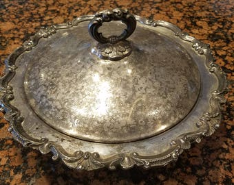 Gorgeous Antique  Footed Serving Dish with Lid Hallmarked  EPCA Bristol Silverplate By Poole 122