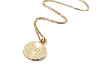 14k gold necklace. Initial pendant. Letter charm necklace. Personalized necklace. Gold monogram pendant. initial necklace. Gift ideas.