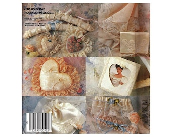 McCall's 2350 Bridal Accessories - Hanger Cover, Ring Pillow, Sachet, Bag, Garter, Handkerchief Vintage 1980s Craft Sewing Pattern UNCUT
