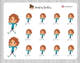 Walking Stickers, Fitness Stickers, Stacy Stickers
