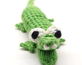 Grinnin' Gator Amigurumi Alligator Plush Toy Knitting Pattern PDF Digital Download