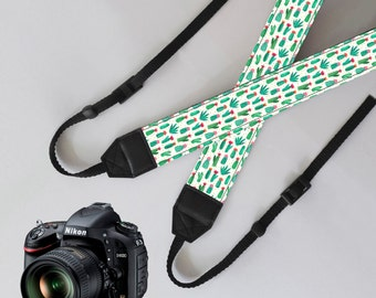 Camera Strap-Cactus,unique dslr camera strap,SLR Digital Camera strap,personalized camera strap,nikon,canon camera strap