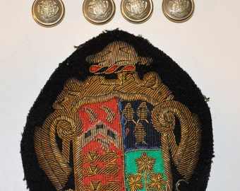 Genuine Vintage Ridley College Blazer Crest and Buttons St. Catharines Ont.-- Free Shipping