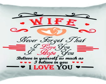 husband /wife pillow case