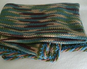 Camo Baby boy blanket, Little Hunter blanket, knit crochet cotton blanket, camo nursery decor, boy room decor