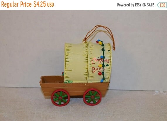 Delayed Shipping Santa's Best Christmas Collectible Ornament Vintage Christmas or Bust Wagon Ornament Keepsake Holiday Ornament Christmas Tr