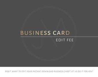 Edit My Business Card | Branding | Business Card | Editing Fee