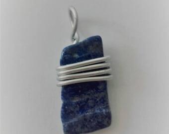 Blue Lapis Lazuli stone pendant