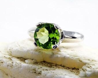 Peridot rings, ring peridot, sterling silver peridot ring, peridot ring, genuine green peridot, ring size 3 4 5 6 7 8 9 10 11 12 13