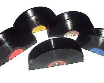 Recycled Record Album Container for Accessories, Vintage Home Decor, Desk Office Accessories