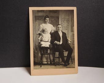 Antique Victorian cabinet card Victorian photograph family