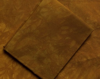Golden Brown Hand-Dyed Quilting Cotton Fat Quarter