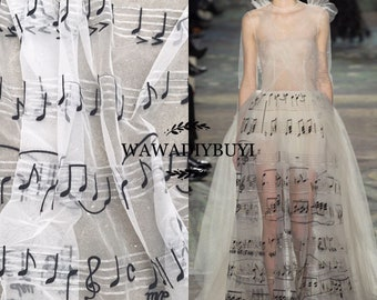 """Unique Delicate White Embroidery Bridal Cheongsam Fishtail Bridal Wedding Dress Lace Mesh Fabric 51.1"""" Wide Sold by Yard"""