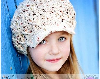 Sonoma Winter Hat 2T-4T, Newsboy Hat, Oatmeal Crochet Hat, Kids Hat, Apple Cap, Childrens hat, Photo Prop Hat, winter beanie, Fall Colors