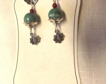 Catholic Southwest Design Earrings with Miraculous Medals