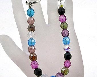 Handmade Multi-Colored Firepolish  Bead Bracelet