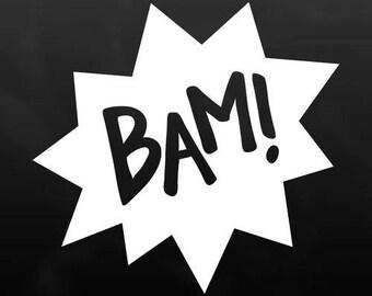 Bam! Vinyl Decal Sticker