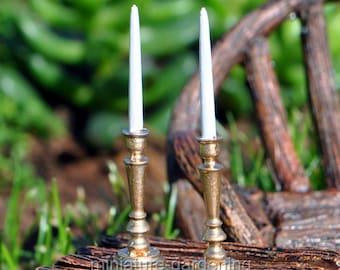 Classic Candlesticks for Miniature Garden, Fairy Garden