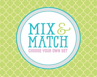 Create a Custom Grouping - Mix N' Match - Build Your Own Set - Choose From Any Prints Seen in First Comes Love - Customized Colors Welcome