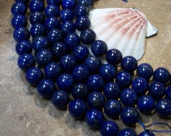 A grade  Lapis Lazuli beads-  (10 mm round)-  half strand
