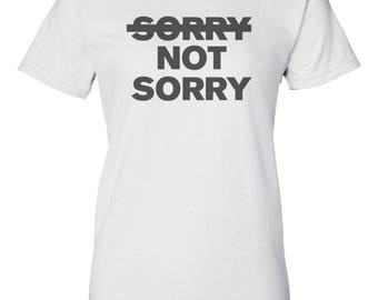Sorry Not Sorry Custom Women's Ultra Cotton Gildan T-Shirt-White