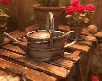 Dolls house handmade 12th scale miniature watering can