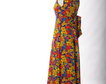 Closing Sale-Coupon Code Butterfly6Vintage Psychedelic Floral Midi/Maxi Dress