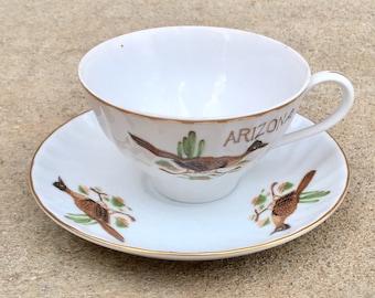 Vintage Arizona Cup and Saucer Souvenir China