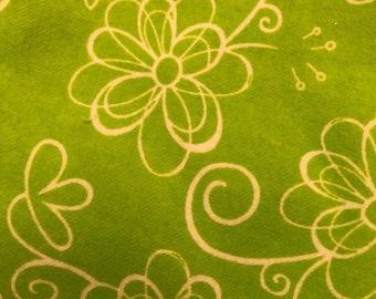 Personalized REVERSIBLE Baby Bandana Bib /Bibdana / Choose Organic Bamboo or Minky / Green Swirl