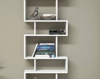 bookcase,floating bookshelf,bookshelves,asymmetrical bookshelf