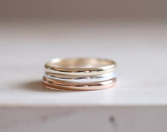 Gold Band. Sterling silver gold plated thin band ring. Yellow gold ring, Gold plated, Stacking ring, band ring, Engagement Wedding ring.