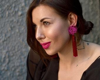 Rosie earrings -RED