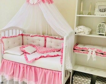 Custom Baby Bedding Crib Bedding Bedding Sets Crib Set Baby Girl Crib Bedding Baby Girl Bumper Crib Bumper Baby Bumper Pads Baby Canopy