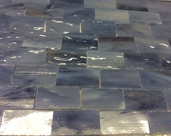 25 CASTLE BLUE GRAY Borders Stained Glass Tile Supply J3