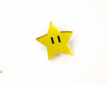 Super Mario Star Pin - Laser Cut