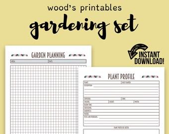 Garden Planner PDF Printable; Garden Sign, Garden Marker, Gardening Journal, Garden Printable, Gardening Planner, Gardening Notebook