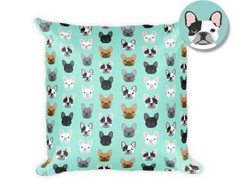 "French Bulldog Square Pillow - 18""x18"""