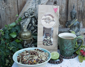 IMMUNE BOOSTER TEA - Organic Herbal Immune booster Boost Cold Flu Colds flu's sore throat cough Herbs herb blend Loose leaf Remedy Relax