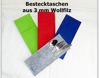 Wool felt - favorite color - Cutlery Bags