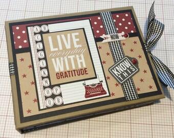 Gratitude Scrapbook Album, PREMIUM Mini Album, Graduation Album, Graduation Gift, Photo Album, Journal