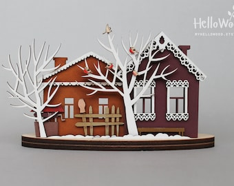 Christmas Decoration Wooden House