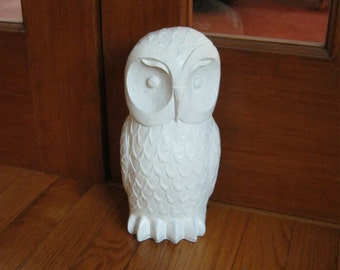 Owl Door Stop, Home Decor, Concrete Cement Owl Statue For Home And Garden