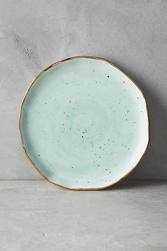 Anthropologie Mimira Canape Appetizer Dessert Side Plate Mint by Etsy