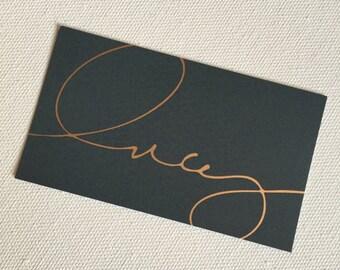 1500 Custom Gold Foil Business Cards