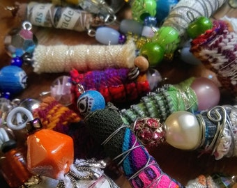 Mystery Lot Bohemian Beads - Listing for (5) Handmade Beads - Mystery Selection - Various Sizes - Reclaimed Materials
