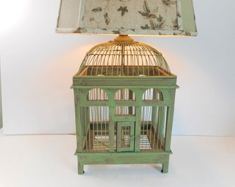 Bird Cage Lamp with Matching Shade