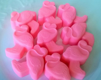 Mini Hot Pink flamingo Soap Set - Goat Milk Soap - Gift for Her - Teen - Novelty - Birthday - Party Favor  - Aloha Pineapple scented