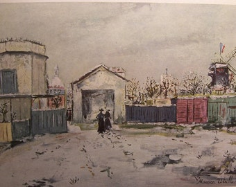 The PHILOSOPHER'S TOWER 1917 Maurice Utrillo Museum Quality Print Ready To Frame Additional Prints Ship FREE